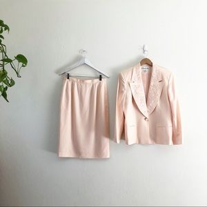 Christian Dior Blazer & Skirt Suit Set Pink